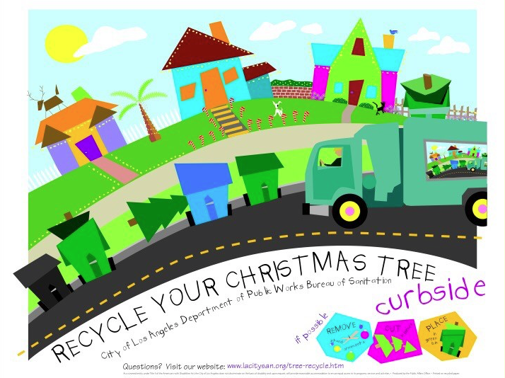 Los Angeles Christmas Tree Recycling